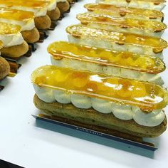 Have a good weekend with the st honoré eclair! ⚡️⚡️⚡️ #fauchon #paris #parispatisserie #food #instafood #instapastry #foodporn #foodie #pastrychef #pastryporn #patrickpailler #pastryaddict #patisserie #caramel #sthonoré #eclair #kawaii #mignon #chantilly #vanille #vanilla #feuilletage #yummy #chacunsapart #pateachoux