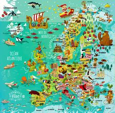 map of europe on behance