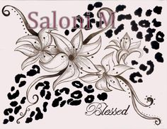 Lilly and Cheetah Print Tattoo By Saloni Manku
