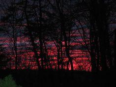 Awesome sunrise on November 18, 2013