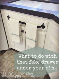 DIY Remodeling Hacks - Cabinet Towel Bar - Quick and Easy Home Repair Tips and T.DIY Remodeling Hacks - Cabinet Towel Bar - Quick and Easy Home Repair Tips and Tricks - Cool Hacks for DIY Home Improvement Ideas - Cheap Ways To Fix .