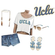 """""""UCLA Short Sleeve Crop Top - Gameday Outfit"""" by collegehautees on Polyvore"""