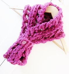 Scarf handknit Cerise Womens Scarf Womens by OnePurlRow on Etsy