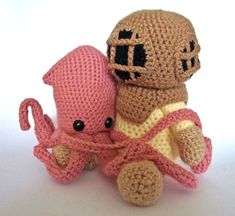 Deep Sea Diver AND Squid - Crochet Patterns