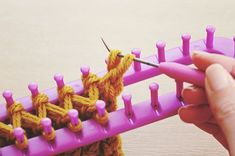 Great tutorial for a loom-knitted infinity scarf.