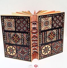 My experiment combine bookbinding and weaving. Cover made by wood with traditional carving Toraja's pattern, Celebes Island, Indonesia. Follow my instagram @vitarlenology #handmadebyvitarlenology www.vitarlenology.net