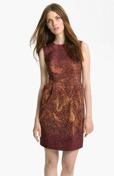 Crimson 'Firefly' Print Silk Dress by Nanette Lepore