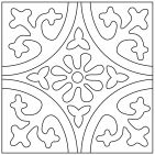 Color-It Cuerda Seca Custom Paint Tool – Fireclay Tile – Art – Art is my life. Stencil Patterns, Mosaic Patterns, Pattern Art, Stencils, Fireclay Tile, Tile Crafts, Ideias Diy, Clay Tiles, Paperclay