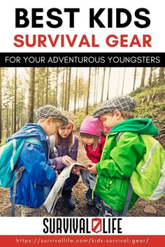 Kids survival gear matters. No matter what age you are, it's never too early to learn basic survival skills and get used to outdoor gear. Read on to know what survival gears are best for your little ones! #survivallife #survival #preparedness #survivalist #prepper #camping #outdoors #spring #outdoorsurvival #survivalgears #kidssurvivalgears Survival Life, Survival Gear, Survival Skills, Outdoor Survival, Outdoor Gear, Gear S, Survival Equipment, Camping Outdoors, Reading Material