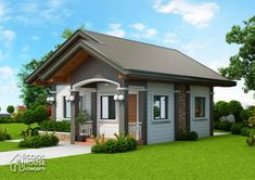 Tiny House Plan with 2 Bedrooms - Cool House Concepts Small Modern House Plans, Simple House Plans, My House Plans, Simple House Design, House Front Design, Modern Bungalow House, Tiny House, Three Bedroom House Plan, 3d Warehouse