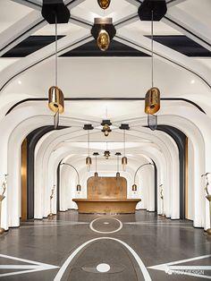 Interior Ceiling Design, Lobby Interior, Restaurant Interior Design, Interior Decorating, Hotel Reception, Reception Design, Hotel Lobby Design, Amazing Architecture, Hospitality