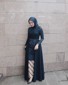 Image may contain: 1 person, standing Model Baju Hijab, Kebaya Modern Hijab, Kebaya Hijab, Model Kebaya Muslim, Hijab Dress Party, Hijab Style Dress, Casual Hijab Outfit, Beautiful Gown Designs, Beautiful Hijab