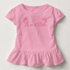 La vie et Belle Toddler T-shirt - girl gifts special unique diy gift idea