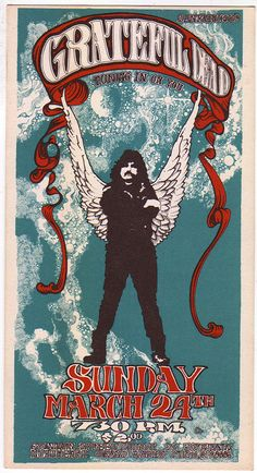 Concert poster for the Grateful Dead at Fountain Street Church - March 24, 1968