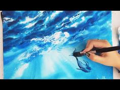 Time Lapse Watercolor Underwater Whale by Untamed Little Wolf - YouTube