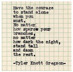 Tyler Knott Gregson typewriter series