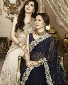 """New, Zarqash Bel Amour F/Winter Formals Collection Zarqash """"Bel Amour"""" Embroidered Chiffon Collection For Winter Full Catalog for Online Shopping Heavy Dresses, Formal Dresses, How To Wear A Sari, Lace Saree, Winter Formal, Pakistani Actress, Saree Styles, Celebs, Celebrities"""