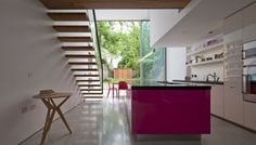 Modern Glass Cube Extension Designs of Victorian Terraced House - HomeHouseDesign.Com