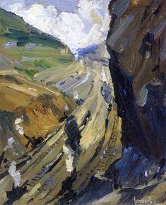 """Study for """"The Conquerors"""" Jonas Lie - 1913"""