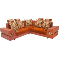 Sectional Plain Channel Rust Sofa Set. Cheapest ...