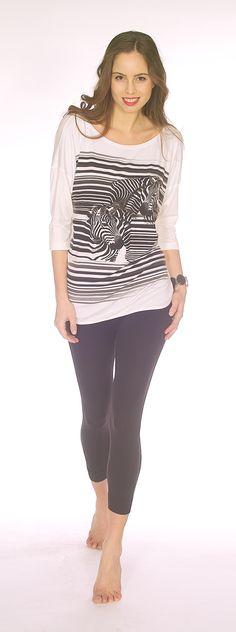 Black Zebra Top T0916