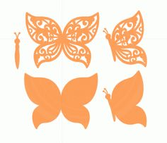 Silhouette Design Store - View Design #77690: orange butterflies set