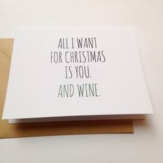 All I Want for Christmas is You / Spouse Holiday Card by BEpaperie