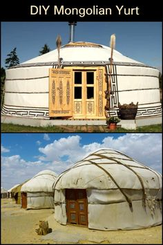 Yurts have a kind of mystical quality in the same way as the tales do. Yurts have a kind of mystical Mongolian Yurt, Natural Homes, Yurts, Build Your Own, Survival Skills, Outdoor Gear, Mystic, Tiny House, Life Is Good