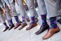 COLOR PALLET FOR GROOMSMEN | Groomsmen showed a pop of color palette-appropriate color by wearing ...