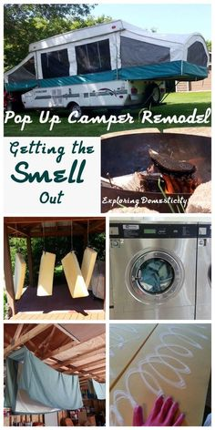 Pop Up Camper Remodel: Getting the Smell Out