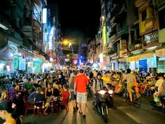 Saigon, Vietnam. An energetic and bustling city. Vibrant. Millions of motorbikes zooming around. Amazing food.