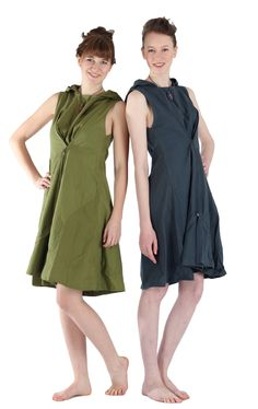 new fair trade dress in 2 colors with hoodie
