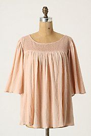 I really like this Anthro peasant top. Anything with flow and stitching.