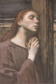 Ottilie Roederstein, Mary Magdalene at the Foot of the Cross    Google Image Result for http://upload.wikimedia.org/wikipedia/commons/d/d6/Roederstein_1894_Magdalena_am_Fusse_des_Kreuzes.jpg