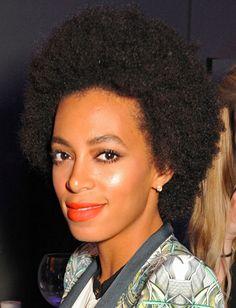 Solange Knowles' matte orange lipstick