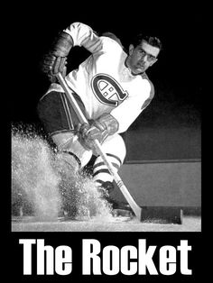 "Today in History Sports Edition: Maurice ""Rocket"" Richard became the first National Hockey League (NHL) player to score 50 goals. Montreal Canadiens, Hockey Stuff, Hockey Teams, Ice Hockey, Hockey Highlights, Maurice Richard, Hockey Pictures, Hockey Boards, Today In History"