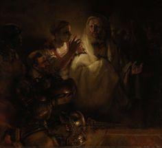 "Rembrandt van Rijn 1606 – 1669 ""The Denial of Peter"" oil on canvas — 1660 Rijksmuseum, Amsterdam Painting Prints, Canvas Prints, Art Print, Rembrandt Paintings, Francisco Goya, Dutch Golden Age, Dutch Painters, Leiden, Christian Art"