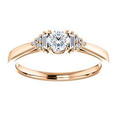 Inel de logodna din aur cu diamante 122941DIDI