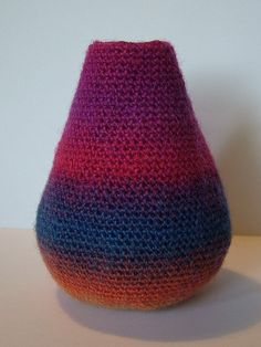 Crochet Teardrop Vase by Elvira Jane by Elvira Jane Crochet, via Flickr