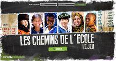 Les chemins de l'école : le jeu par FranceTV Education  voir aussi: http://www.ccdmd.qc.ca/fr/ressources/?id=5244&action=animer_eureka