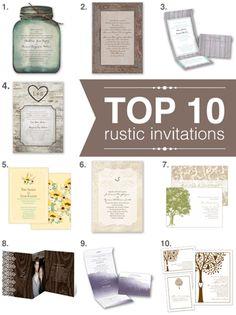 top 10 rustic wedding invitations