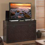 tv lift cabinet sharper image