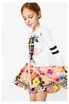 Vestido de manga larga para niña - Abiyán | Desigual.com
