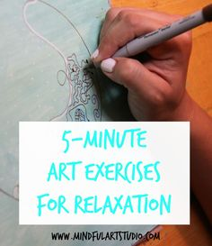 The self-care challenge is meant to help you see what a difference 5 minutes can make in your mood. See art activities you can do to relax in 5 minutes.