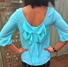 The Willow Tree - Bow to Me top (Mint), $29.95 (http://willow-tree.mybigcommerce.com/bow-to-me-top-mint/)