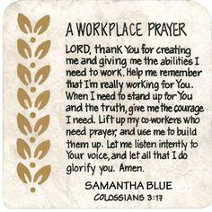 Resultado de imagen para prayer for workplace Prayer Times, Prayer Scriptures, Bible Prayers, Faith Prayer, Prayer Quotes, My Prayer, Bible Quotes, Catholic Prayers, Bible Verses