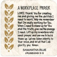prayer for workplace - Buscar con Google                              …