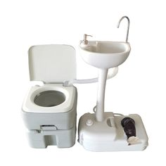 234a0b7c1d9 Outdoor Camping 5 Gallon 20L Portable Toilet Flush Potty Commode with Wash  Basin