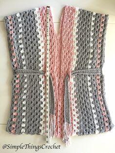 Chloe Vest - Simple Things Crochet Source by bb_tatimendes y faldas Crochet Vest Pattern, Crochet Cardigan, Crochet Shawl, Free Crochet, Knit Crochet, Crochet Patterns, Crochet Vests, Crochet Edgings, Shawl Patterns