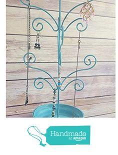 Jewelry Tree Metal Turquoise Jewelry Holder Display Organization Up Cycled Eco Friendly from Crafty McDaniel https://www.amazon.com/dp/B01HKC5YL0/ref=hnd_sw_r_pi_dp_mXQFxbCQ6M7QY #handmadeatamazon